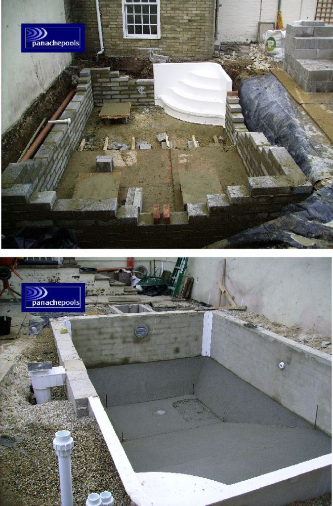 Bespoke exercise pool under construction