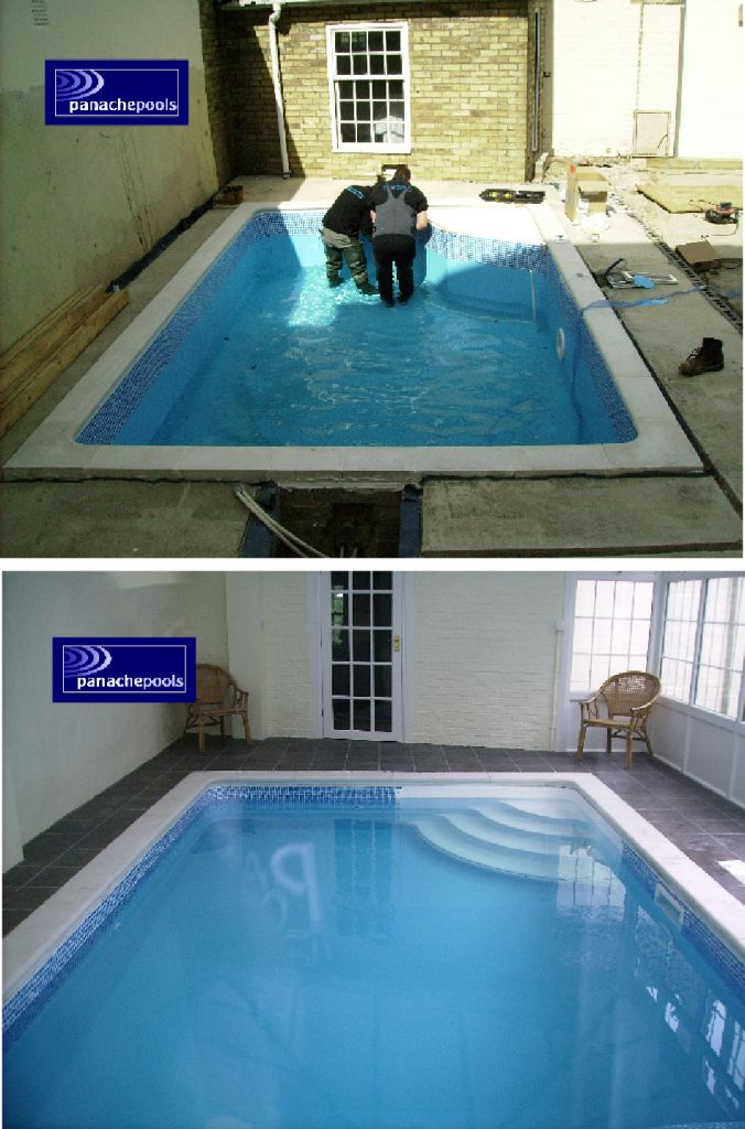 Exercise pool liner fitted