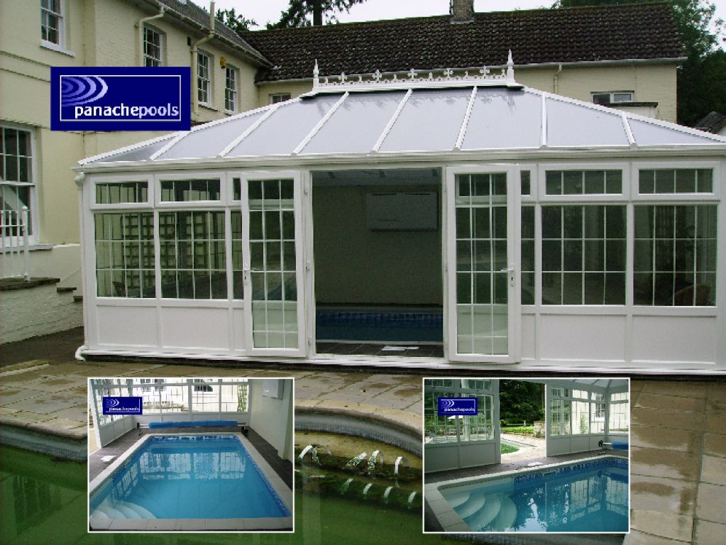 Exercise pool in a conservatory