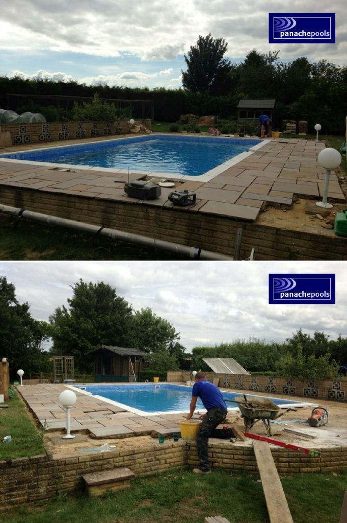 Swimming pool undergoing refurbishment