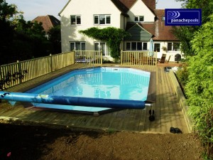 Finished wooden pool.