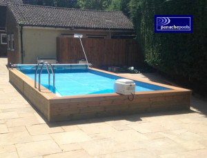 Swimming pool refurbishment.