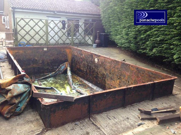 Pool repair.